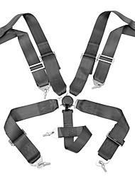 Недорогие -5-точечная блокировка кулачка гоночный автомобиль ремень безопасности гонки регулируемый ремень нейлоновый жгут - черный