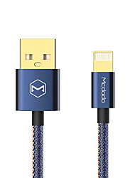 cheap -Lightning Cable 1.2m(4Ft) Braided Aluminum / Nylon USB Cable Adapter For iPad / iPhone