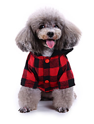 cheap -Dogs Outfits Winter Dog Clothes Black Christmas Halloween Costume Polyster Plaid / Check Pumpkin Holiday Funny S M L XL