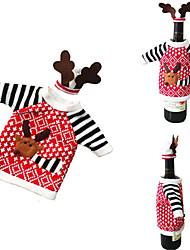 cheap -1pcs Christmas Accessories Wine Bottle Santa Claus Snowman Dinner Decoration