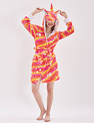 cheap -Kid's Adults' Kigurumi Pajamas Unicorn Flying Horse Onesie Pajamas Flannelette Terylene polyester fibre Orange Cosplay For Men and Women Boys and Girls Animal Sleepwear Cartoon Festival / Holiday