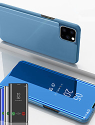 cheap -Magnetic Flip View Mirror Phone Case For iphone 11 Pro Max / iphone 11 Pro / iphone 11 Leather Stand Cover For iphone XS Max XR XS X 8 Plus 8 7 Plus 7 6 Plus 6 Shockproof Protection Case