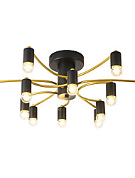 cheap -12-Head Nordic Style Metal Ceiling Lamp Semi Flush Modern Living Room Dining Room Bedroom Ceiling lights