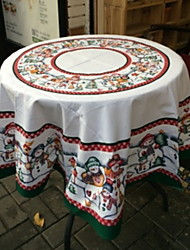 cheap -Casual polyester fibre Round Table Cloth Geometric Table Decorations