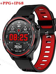 Недорогие -Для пары Смарт Часы Цифровой Стильные силиконовый Черный / Красный / Зеленый 30 m Пульсомер Bluetooth Smart Аналоговый Мода - Черный Зеленый Красный Два года Срок службы батареи / Нержавеющая сталь