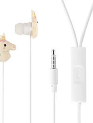 Недорогие -Vositone ves01 Единорог проводной наушники-вкладыши проводной мобильный телефон встроенный контроль