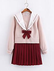Недорогие -Вдохновлен Косплей Школьницы Аниме Косплэй костюмы Японский Косплей Костюмы Школьная форма Юбки Кофты лук Назначение Жен.