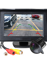 cheap -ZIQIAO 4.3 Inch Foldable Car Monitor TFT LCD Display Cameras Reverse Camera Parking System for Car Rear View Monitors NTSC PAL