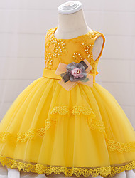 cheap -Princess Belle Dress Cosplay Costume Masquerade Girls' Movie Cosplay A-Line Slip Cosplay Halloween White / Yellow / Green Dress Halloween Children's Day Masquerade Tulle Poly / Cotton Blend