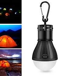 cheap -1pcs 3 W Waterproof / Creative / Dimmable White Batteries Powered Outdoor Lighting / Swimming pool / Outdoor Camping Light Hook Portable LED Tent Light Mini Camping Light / Courtyard 3 LED Beads