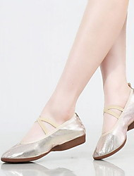 cheap -Women's Ballet Shoes Canvas Flat Flat Heel Customizable Dance Shoes Gold / Silver / Practice