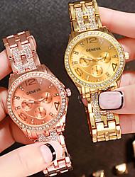 cheap -Women's Quartz Watches Quartz Fashion Casual Watch Analog Rose Gold Gold Silver