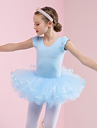 cheap -Ballet Dresses Girls' Training / Performance Cotton Pleats Cap Sleeve Dress