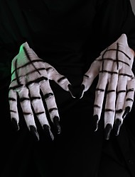 cheap -Gloves Mask Halloween Props Inspired by Ghost Scary Movie White Gloves Halloween Halloween Men's Women's