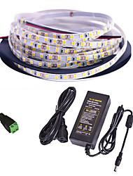 cheap -5m LED Strip Lights Flexible Tiktok Lights 300 LEDs SMD2835 1 x 12V 2A Adapter 1 set Warm White White Red Waterproof Creative Party 85-265 V