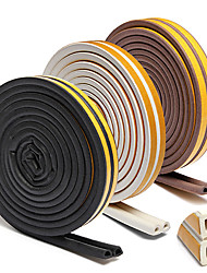 cheap -10m Self Adhesive D ype for Car Doors Windows Foam Seal Strip Soundproofing Collision Avoidance Rubber Seal Collision