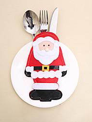 Недорогие -Санта-Клаус сумка для столовых приборов рождественские украшения / праздничные украшения новогодние
