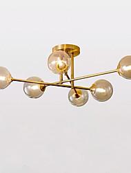 cheap -QIHengZhaoMing 6-Light 85 cm Flush Mount Lights Metal Glass Sputnik Brass Nordic Style 110-120V / 220-240V / G9