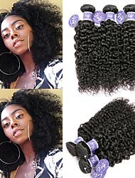 cheap -6 Bundles Brazilian Hair Kinky Curly Remy Human Hair 100% Remy Hair Weave Bundles Headpiece Natural Color Hair Weaves / Hair Bulk Bundle Hair 8-28 inch Natural Natural Color Human Hair Weaves Newborn