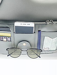 cheap -Car Organizers CD Case / Card Holder / Glasses Clips PU Leather / Nylon / Car Sun Visor Storage Bag