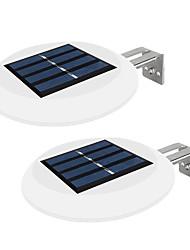 cheap -2pcs 0.3 W Outdoor Wall Lights / Led Street Light / Solar Wall Light Waterproof / Solar / Creative White 2 V Outdoor Lighting / Swimming pool / Garden Courtyard Fence Round Sink /Courtyard 9 LED Beads