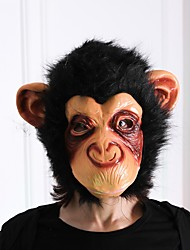 cheap -1 Piece Halloween Mask Orangutan Big Mouth Vinyl Monkey Mask Head Party Prop Face Mask for Halloween Dance Show