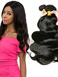 cheap -3 Bundles Malaysian Hair Body Wave Unprocessed Human Hair 100% Remy Hair Weave Bundles Natural Color Hair Weaves / Hair Bulk Extension Bundle Hair 8-28 inch Natural Human Hair Weaves Life Adorable
