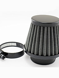 cheap -Universal Motorcycle Air Filter-Black-48MM