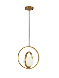 cheap -Circle Pendant Light Ambient Light Electroplated Metal Glass New Design 110-120V / 220-240V