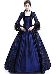 cheap -Women's Elegant A Line Dress - Solid Colored Lace Black Wine Purple S M L XL