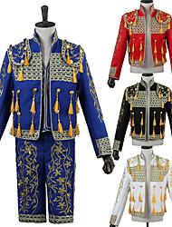 cheap -Prince Retro Vintage Medieval Coat Corset Pants Outfits Men's Costume Hat Black / White / Red Vintage Cosplay Party Long Sleeve Pantsuit / Jumpsuit / Vest / Vest