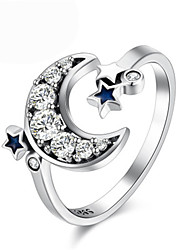 cheap -Women's Ring 1pc Silver Silver-Plated Alloy Daily Jewelry