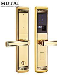 cheap -Factory OEM D109109/RG Zinc Alloy / Aluminium alloy Fingerprint Lock / Password lock Smart Home Security Android System Fingerprint unlocking / Password unlocking Home / Office / Hotel Wooden Door