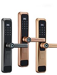 cheap -Factory OEM MN-502 Zinc Alloy lock / Fingerprint Lock / Intelligent Lock Smart Home Security Android System Fingerprint unlocking / Password unlocking / APP unlocking Home / Office / Hotel Wooden Door