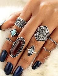 cheap -Ring Set Gold Silver Alloy 8pcs / Women's