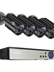 cheap -Hiseeu 8CH 5MP CCTV Camera System DVR 4PCS Outdoor Waterproof Security Camera Day/Night DIY Video Surveillance System Kit