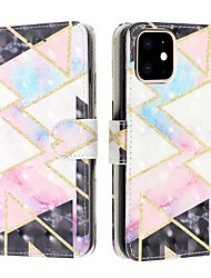 cheap -Case For Apple iPhone 11 / iPhone 11 Pro / iPhone 11 Pro Max Wallet / Card Holder / Flip Full Body Cases Geometric Pattern PU Leather