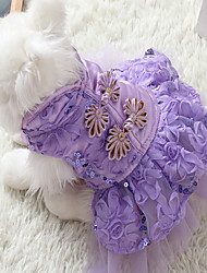 cheap -Dogs Cats Pets Dress Winter Dog Clothes Navy Purple Red Costume Polyster Vintage Retro Vintage XS S M L XL XXL
