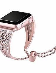 cheap -Stainless Steel Bracelet For Apple Watch 38mm/40mm/42mm/44mm Luxury Metal Diamond Rhinestone Watch Women Watchband Strap Band For Apple Watch Series 6 SE 5 4 3 2 1