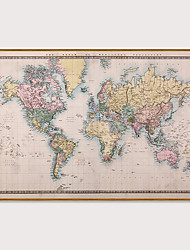 cheap -Framed Art Print Framed Set - Maps PS Poster Wall Art