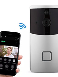 cheap -Factory OEM HH-D02 WIFI Recording No Screen(output by APP) Telephone One to One video doorphone