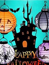abordables -1 pc led nuit lumière halloween décoration citrouille papier pendentif lanterne halloween lumière lampe décorations pour la maison horreur lanterne fournitures aa piles alimenté 5 v