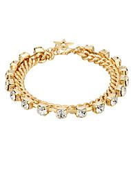 cheap -Women's AAA Cubic Zirconia Chain Bracelet Single Strand Package Punk Trendy Gothic Copper Bracelet Jewelry Black / Gold For Gift Street Work