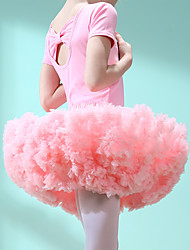 cheap -Ballet Tutus & Skirts Girls' Training / Performance Cotton / Elastane Satin Bow Short Sleeve Leotard / Onesie / Tutus
