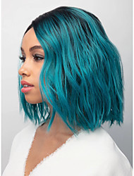 cheap -Synthetic Wig Water Wave Bob Wig Ombre Short Black / Blue Synthetic Hair 12inch Women's Odor Free Adjustable Heat Resistant Ombre / Ombre Hair