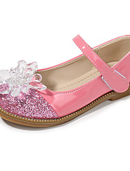 cheap -Girls' Flower Girl Shoes PU / Synthetics Flats Little Kids(4-7ys) / Big Kids(7years +) Crystal / Sequin Silver / Red / Pink Spring / Fall / Party & Evening / Rubber