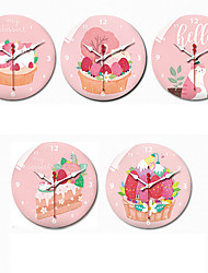 cheap -Wall Clock,Modern Contemporary Wall Hanging Plastic & Metal Acrylic Plastic Round Indoor