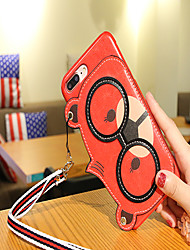cheap -Case For Apple iPhone XS / iPhone XR / iPhone XS Max Pattern Back Cover Animal / Cartoon PU Leather / TPU