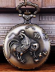 Недорогие -Муж. Карманные часы Кварцевый Старинный Бронза Творчество Новый дизайн Повседневные часы Аналого-цифровые На каждый день - Бронзовый
