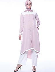 cheap -Arabian Adults' Women's Casual / Daily Dubai Muslim Cosplay Costume Arabian Dress Hijab / Khimar For Party Causal Daily Wear School Wear Street Polyster Dress Pants